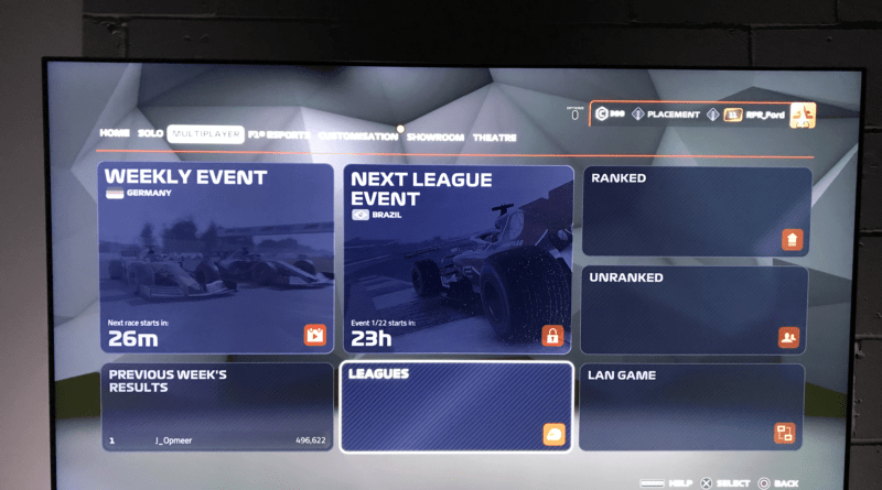 PS4 league race